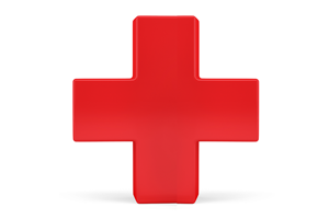 A red cross